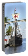 Replica Of The Christopher Columbus Ship Pinta Portable Battery Charger