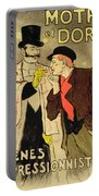 Reproduction Of A Poster Advertising Mothu And Doria In Impressionist Scenes Portable Battery Charger