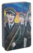 Republican Murals Against British Rule Portable Battery Charger