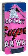 Elephant Super Car Wash Sign Seattle Washington Portable Battery Charger