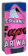 Elephant Super Car Wash Sign Seattle Washington Portable Battery Charger
