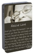 Rescue Love Adoption Portable Battery Charger