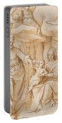 Rest On The Flight Into Egypt Portable Battery Charger by Federico Zuccaro