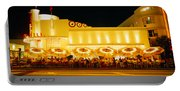 Restaurant Lit Up At Night, Miami Portable Battery Charger