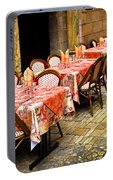 Restaurant Patio In France Portable Battery Charger