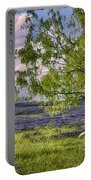 Resting Among The Bluebonnets Portable Battery Charger