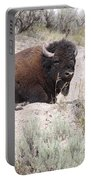 Resting Bison Portable Battery Charger