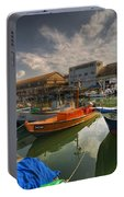 resting boats at the Jaffa port Portable Battery Charger