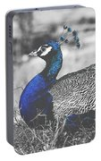 Resting Peacock Portable Battery Charger