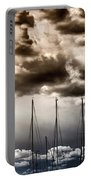 Resting Sailboats Portable Battery Charger