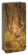 Resting White-tailed Deer Buck Portable Battery Charger