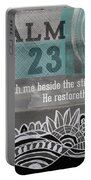 Restoreth My Soul- Contemporary Christian Art Portable Battery Charger by Linda Woods