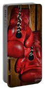 Retired Boxing Gloves Portable Battery Charger by Paul Ward
