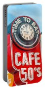 Retro Cafe Portable Battery Charger