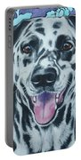 Retro Dalmatian Portable Battery Charger