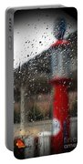 Retro Gas Pump On A Rainy Day Portable Battery Charger
