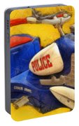Retro Police Tricycle Portable Battery Charger