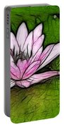 Retro Water Lilly Portable Battery Charger