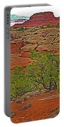 Return Trail To Elephant Hill In Needles District Of Canyonlands National Park-utah Portable Battery Charger