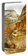 Return Trip On Hidden Canyon Trail In Zion National Park-utah Portable Battery Charger
