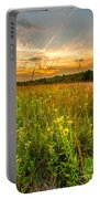 Retzer Wildflower Sunset Portable Battery Charger