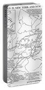 Revolutionary War Map, 1776 Portable Battery Charger