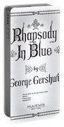 Rhapsody In Blue Portable Battery Charger
