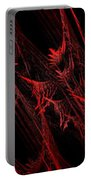 Rhapsody In Red H - Panorama - Abstract - Fractal Art Portable Battery Charger