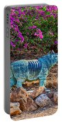 Rhino And Bougainvillea Portable Battery Charger
