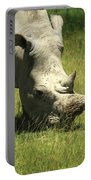 Rhino Covered In Flies Portable Battery Charger
