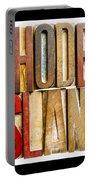 Rhode Island Antique Letterpress Printing Blocks Portable Battery Charger