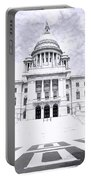 Rhode Island State House Bw Portable Battery Charger