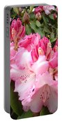 Rhododendron Garden Art Prints Pink Rhodie Flowers Portable Battery Charger