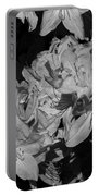 Rhododendron Heaven In Black And White Portable Battery Charger