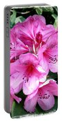 Rhododendron Square With Border Portable Battery Charger