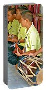 Rhythm Section In Traditional Thai Music Class  At Baan Konn Soong School In Sukhothai-thailand Portable Battery Charger