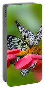 Rice Paper Butterflies Portable Battery Charger