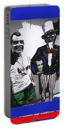 Richard Nixon Masks Uncle Sam Collage  Democratic National Convention Miami Beach Florida 1972-2008 Portable Battery Charger