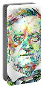 Richard Wagner Watercolor Portrait Portable Battery Charger