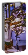Ride The Wild Carrousel Horses Portable Battery Charger