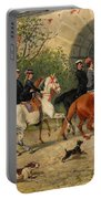Riders At Uppsala Castle Portable Battery Charger