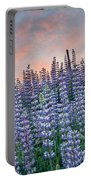 Ridge Of Lupine At Dawn Portable Battery Charger
