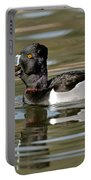 Ring-necked Duck Swallowing Snail Portable Battery Charger