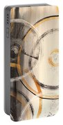 Rings Of Gold Abstract Painting Portable Battery Charger
