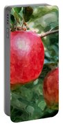 Ripe Red Apples On Tree Portable Battery Charger