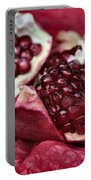 Ripe Red Pomegranate Close Up Portable Battery Charger