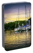 Ripples At Sunset Portable Battery Charger