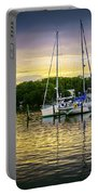 Ripples At Sunset Portable Battery Charger by Brian Wallace