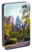 Rittenhouse Square In The Spring Portable Battery Charger