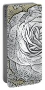 Ritzy Rose With Ink And Taupe Background Portable Battery Charger
